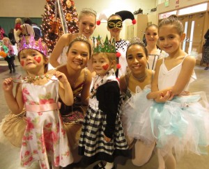 Beautiful ballerinas and future ballerinas.