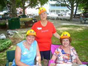 Julie Tidball, Chyrl Hillis and Pam Satterfield at the Duck Races