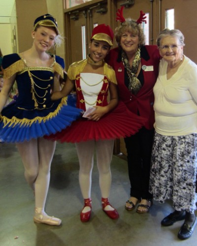 Paulette with Nutcracker dancers