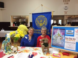 Calaveras Cares Event on April 1, 2017 in Murphys. Shown here are Patsy Gonzalez & President Karen Strand. Other members who helped were: Dree Hedrick, Carol Jones-Giannini and Julia Tidal