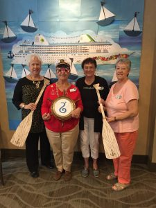 Four SICC Members Attended District Meeting on 10/17/15: Carol Jones-Giannini, Co-Chair, Teddy Bear Tea, President Karen Strand, Treasurer Billie Westernoff and Technical Director, Chyrl Hillis