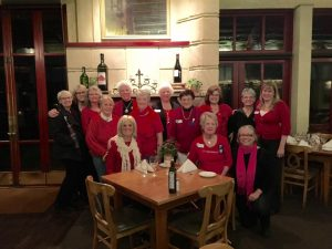 "The month of February recognizes the ""Go Red for Women"" campaign..Several SICC members here all dressed in their best red finery!!!"