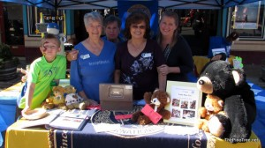 Photo taken by Pine Tree at Gold Rush Days --Adela's grandson, Chyrl, Bev, Adela and Julia
