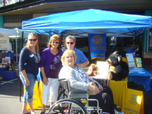 Julia, Adela, Bev and Joanne at Gold Rush Days- Angels Camp-October 18, 4014