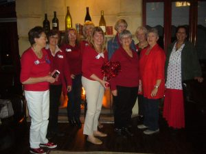 "In support of ""Go Red for Women"" and recognize February as Healthy Heart Month, several SICC members wore red to our 2015 February meeting"