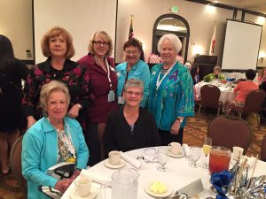 SICC Attendees on Saturday: L-R seated: Roberta Bean, President Karen Strand, standing: Lee Croletto, Vicki Smith-Becker, Billie Westernoff and Carol Jones-Giannini