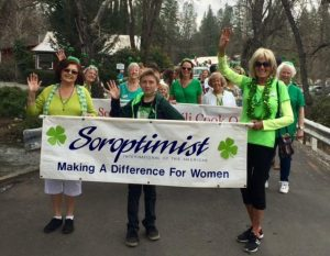 SICC-Irish Days Parade 3/18/17-Adela, Ronnie, Barbara,Paulette,Chyrl, Julie, Carol Dougherty, Carol Jones-Giannini--granddaughters in back